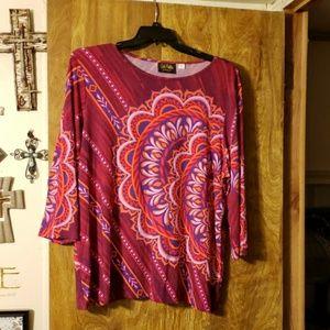 Bob Mackie womens blouse size xl